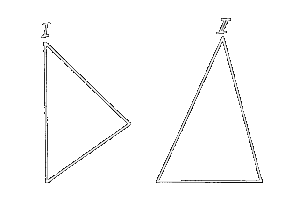 Two differing Triangles